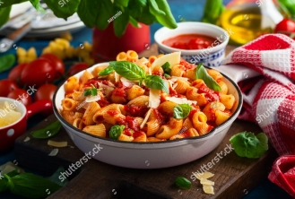 stock-photo-pasta-with-spicy-tomato-sauce-parmesan-and-basil-pasta-chifferi-rigati-1007815945.jpg