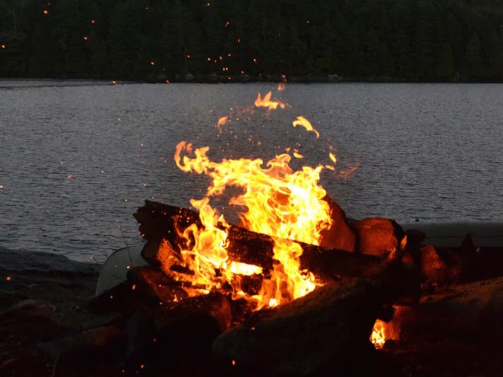 Roaring Fire With Lake