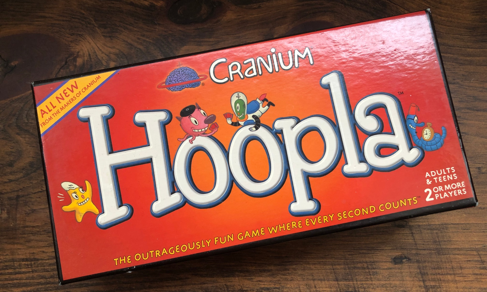 Box for Cranium's Hoopla board game