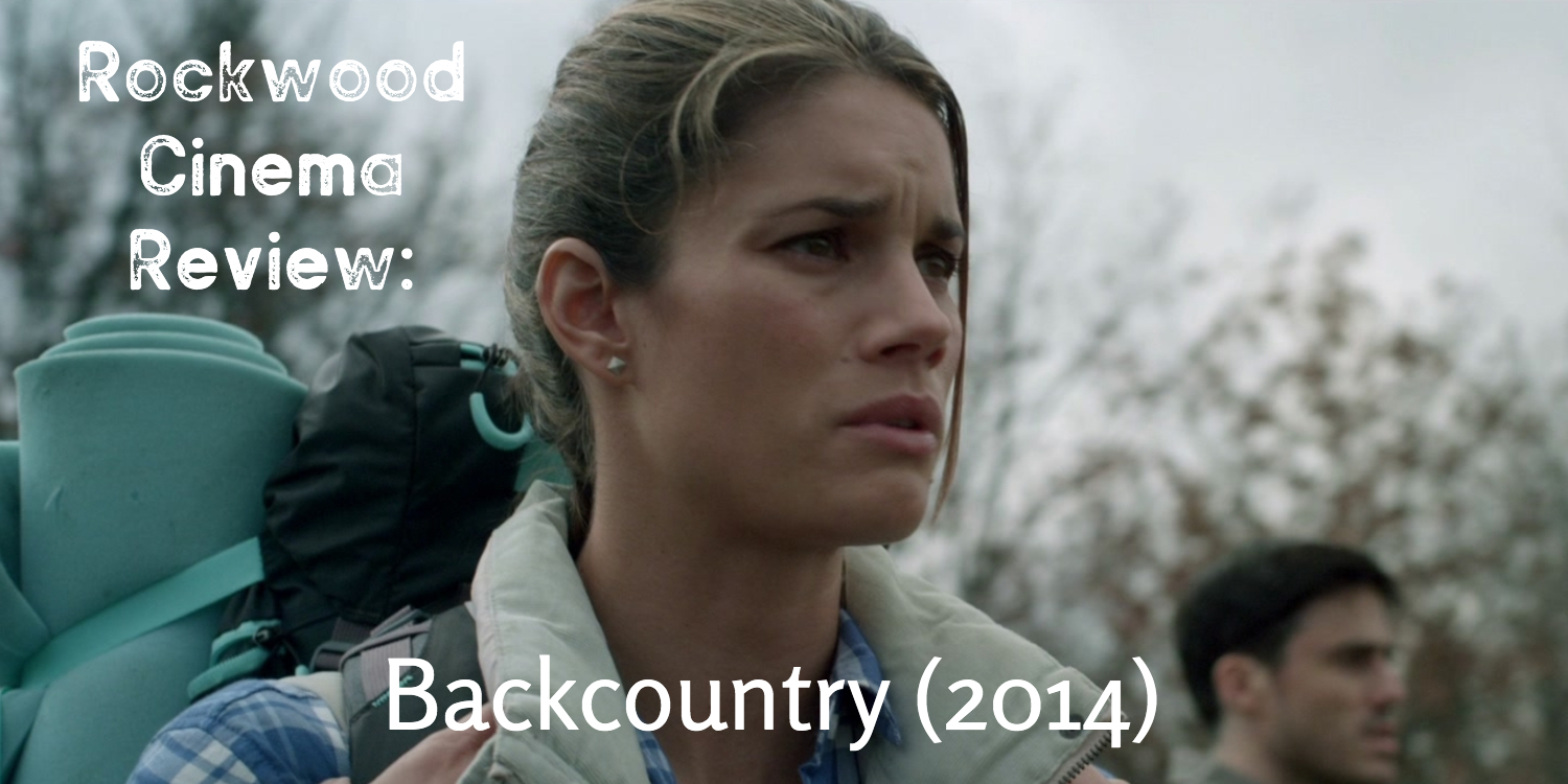 Banner for the Review of Backcountry showing a concerned woman wearing a backpack